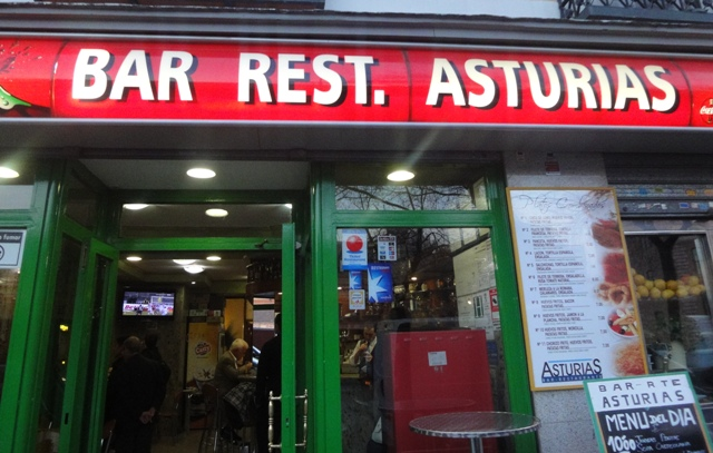 Tapas a Madrid:BAR REST. ASTURIA.